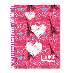 spiral notebook with 200 decorative sheets