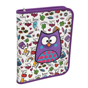 Bubu Owl family Zipper Ring Binder