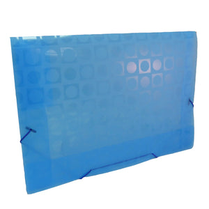 propylene folder with elastic closure