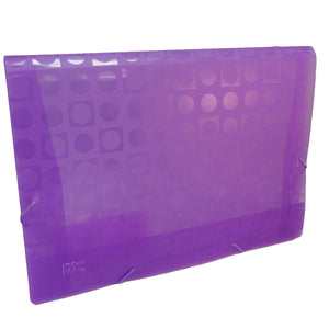 polypropylene folder with elastic closure