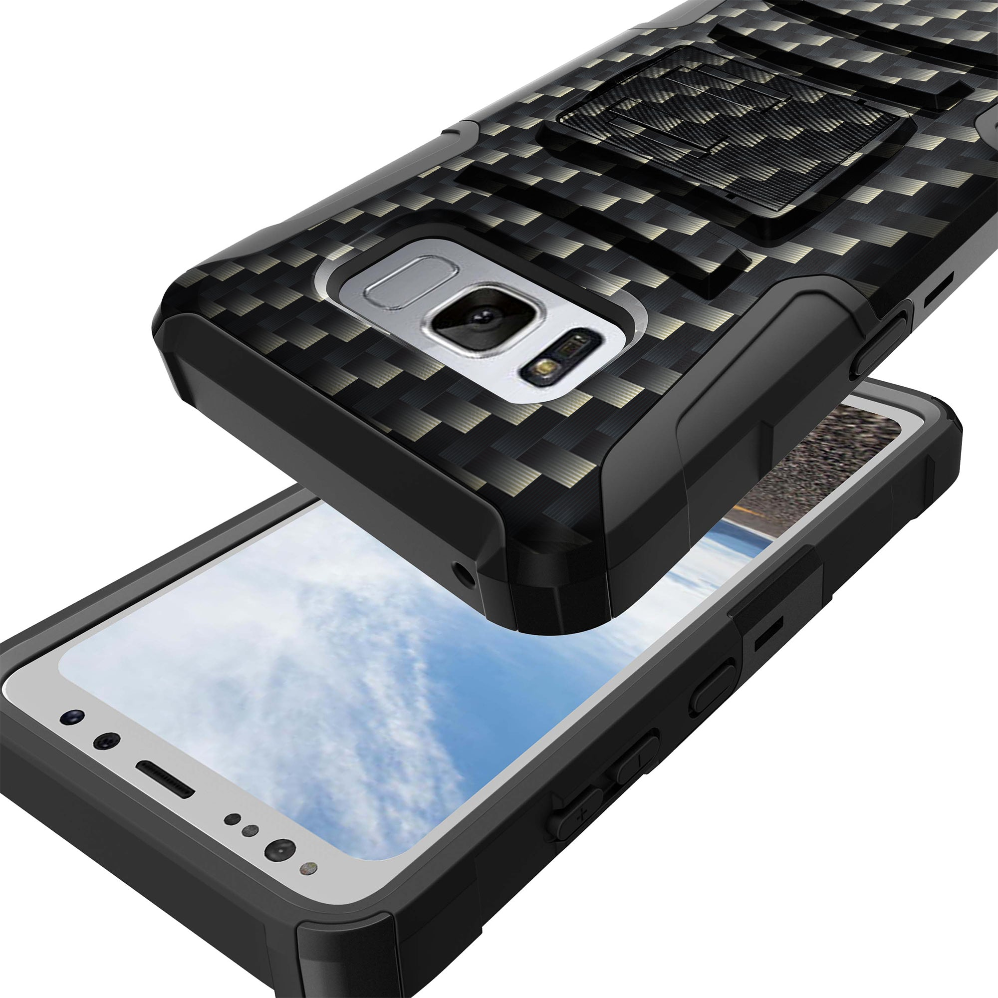 Case-for-Samsung-Galaxy-Note-5-Rugged-Dual-Layer-Holster-Combo-Stand thumbnail 7
