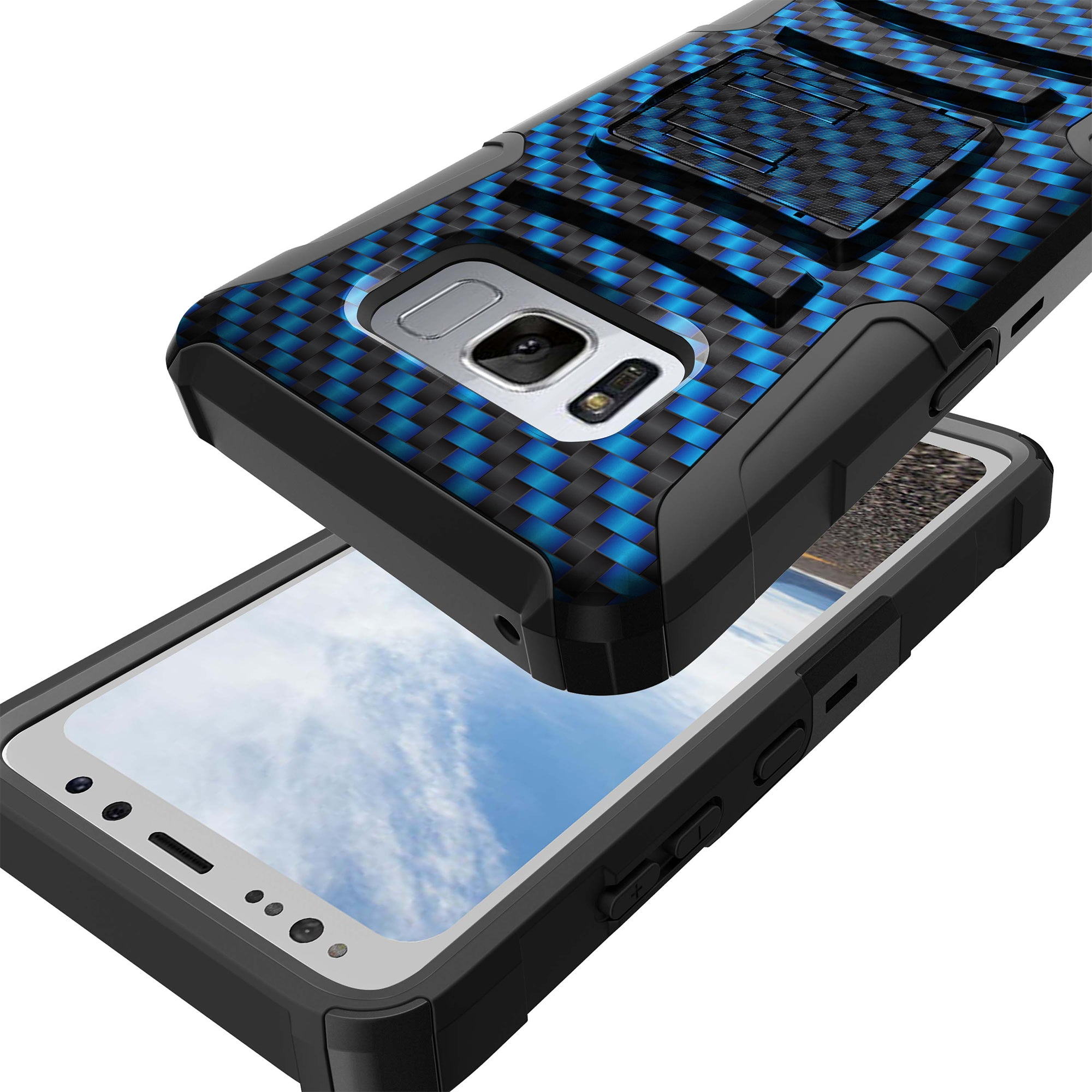Case-for-Samsung-Galaxy-Note-5-Rugged-Dual-Layer-Holster-Combo-Stand thumbnail 10