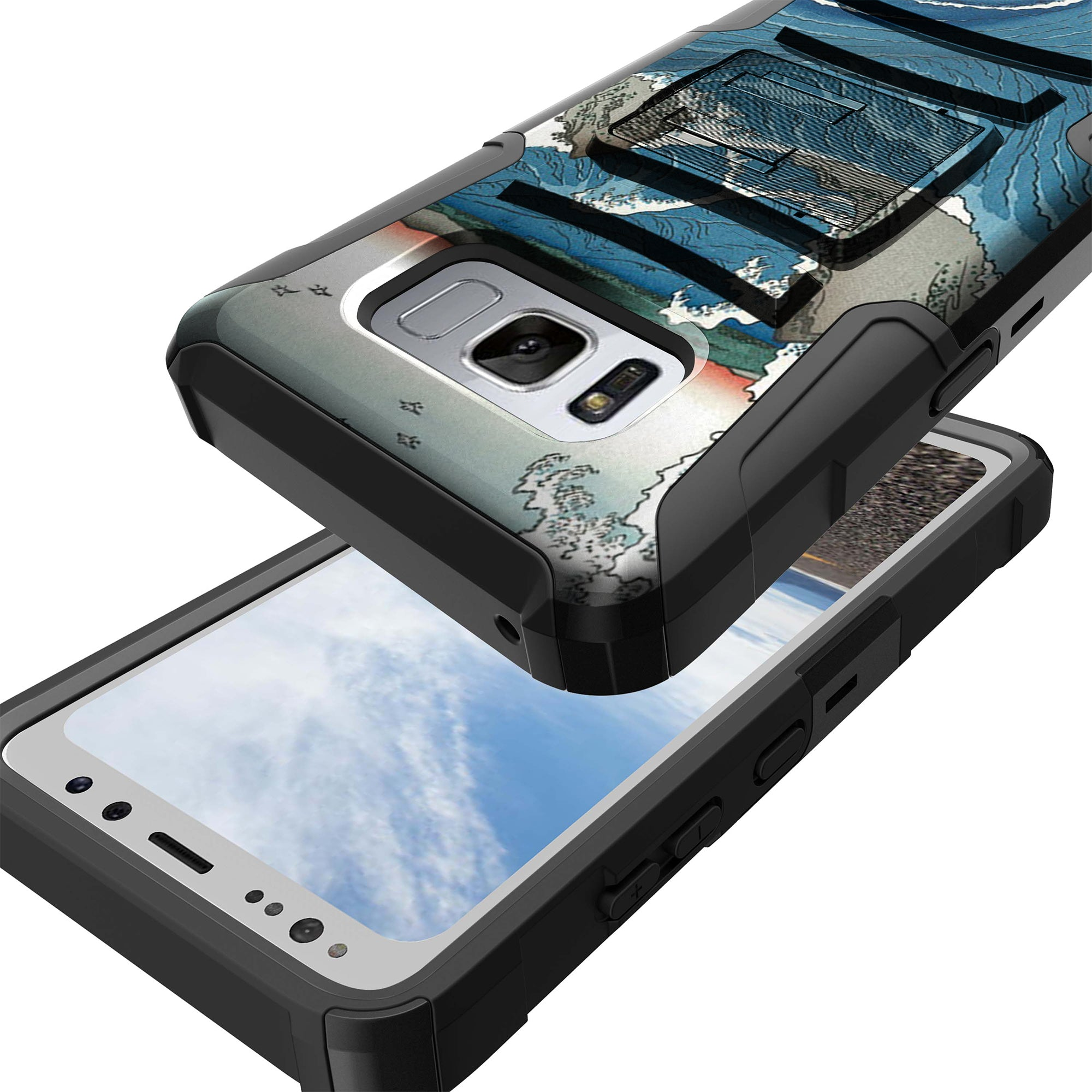 Case-for-Samsung-Galaxy-Note-5-Rugged-Dual-Layer-Holster-Combo-Stand thumbnail 13