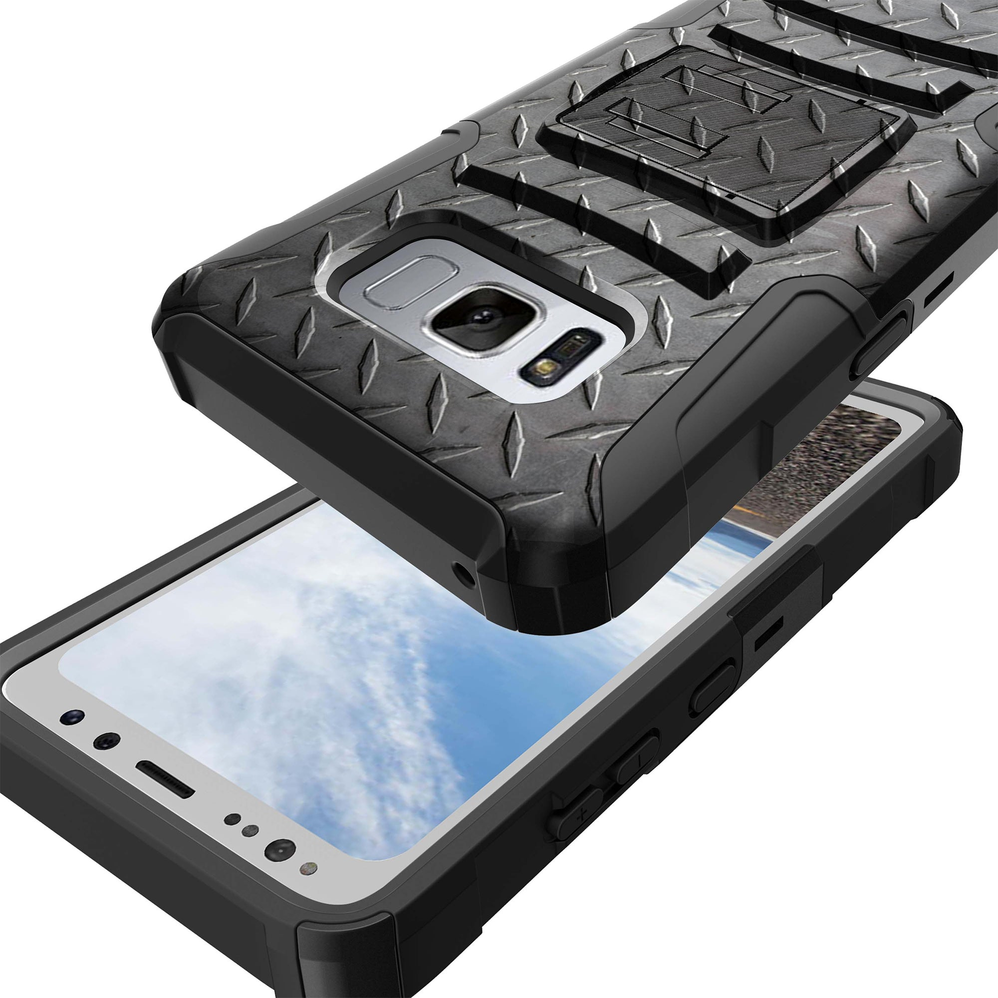 Case-for-Samsung-Galaxy-Note-5-Rugged-Dual-Layer-Holster-Combo-Stand thumbnail 22