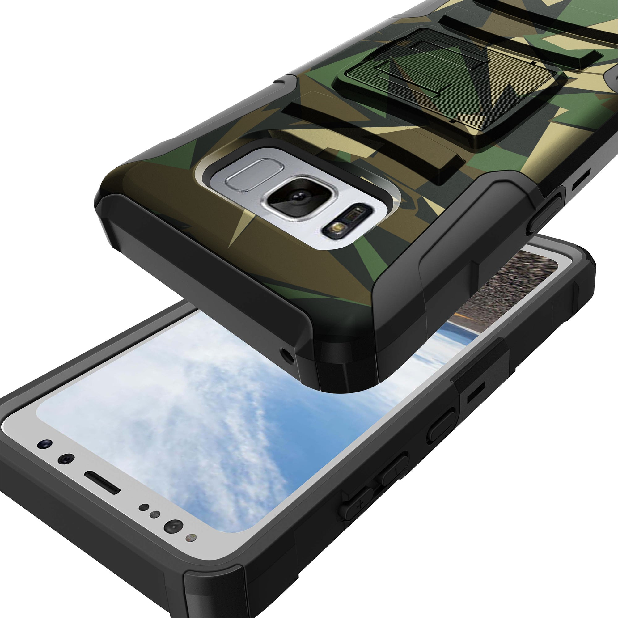 Case-for-Samsung-Galaxy-Note-5-Rugged-Dual-Layer-Holster-Combo-Stand thumbnail 28