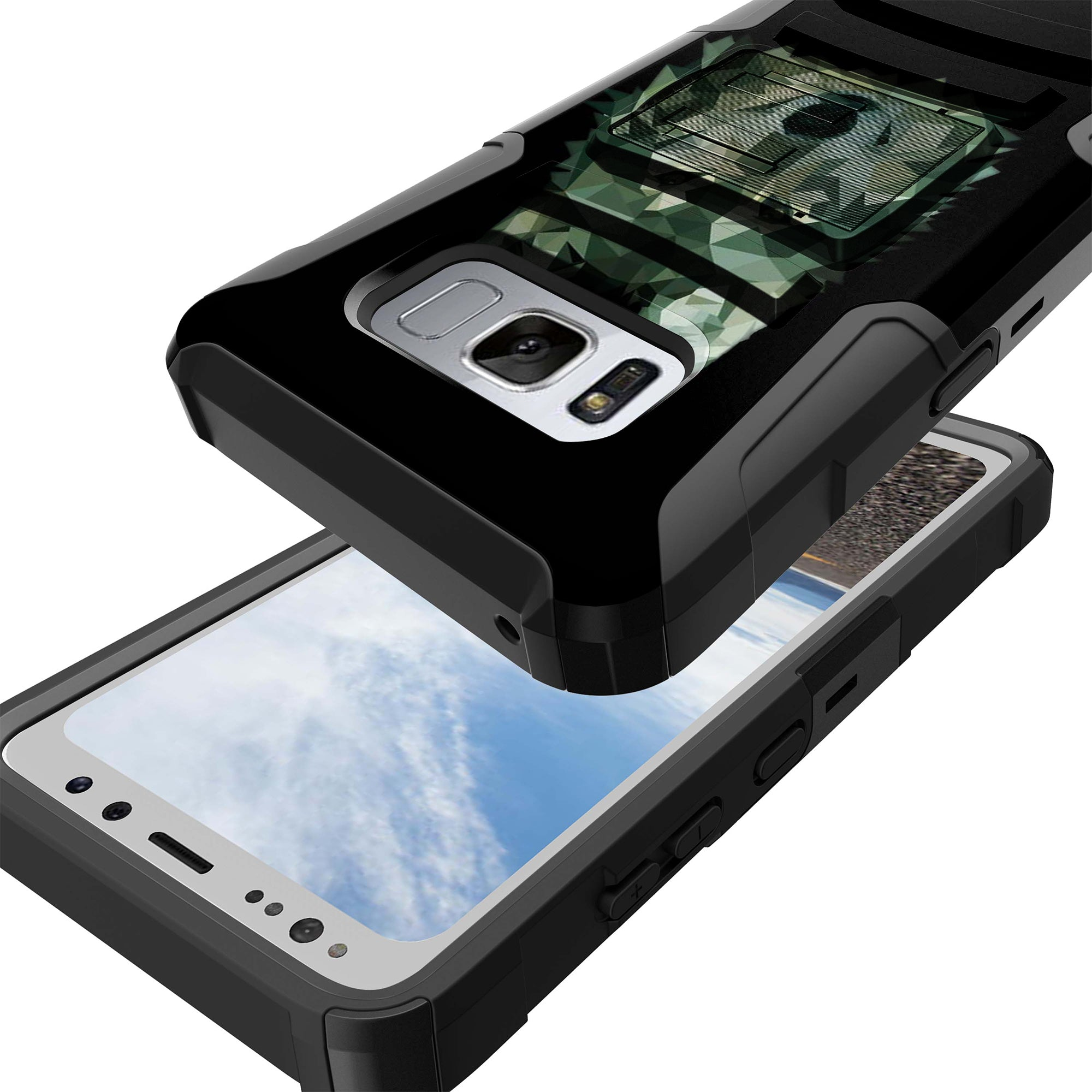 Case-for-Samsung-Galaxy-Note-5-Rugged-Dual-Layer-Holster-Combo-Stand thumbnail 31