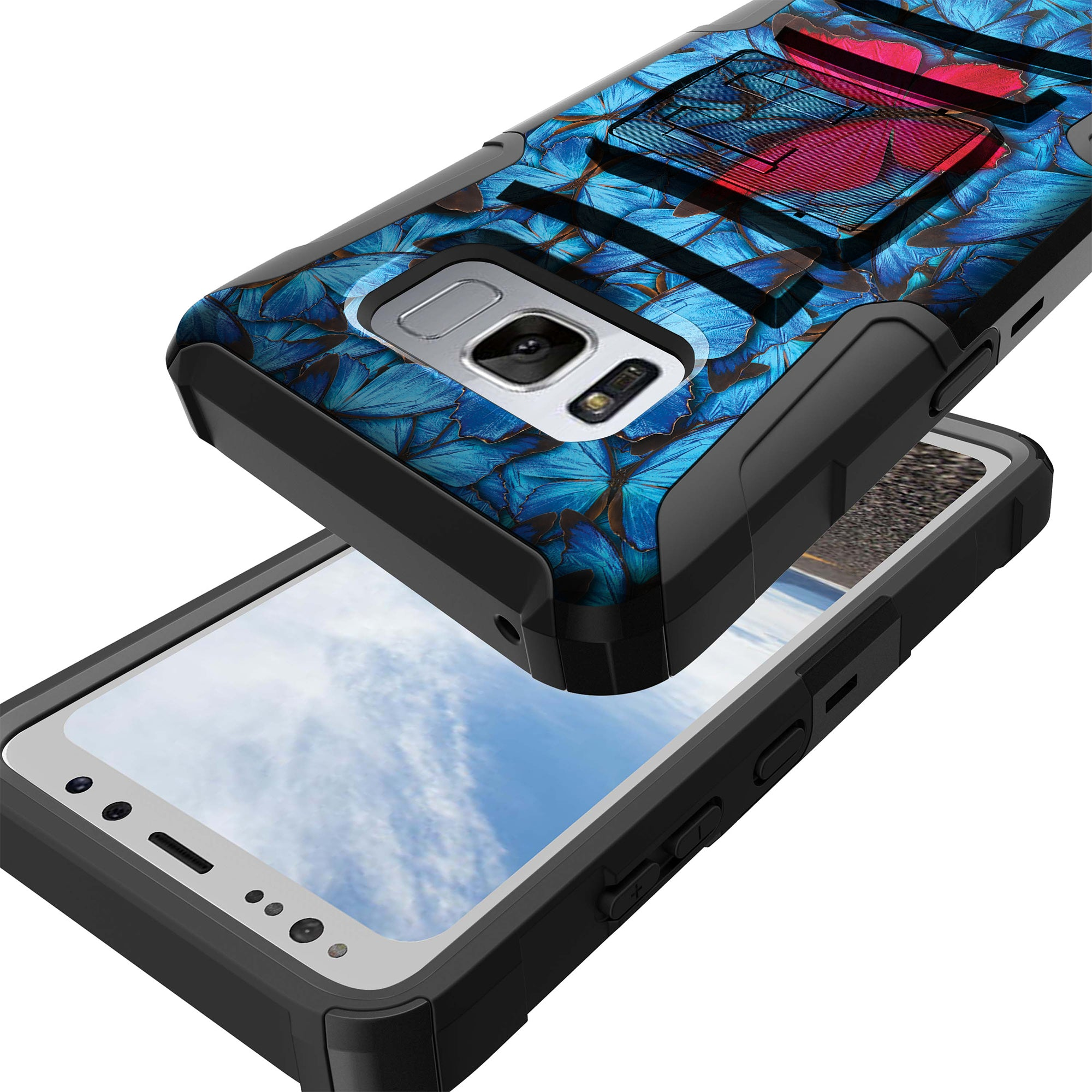 Case-for-Samsung-Galaxy-Note-5-Rugged-Dual-Layer-Holster-Combo-Stand thumbnail 37