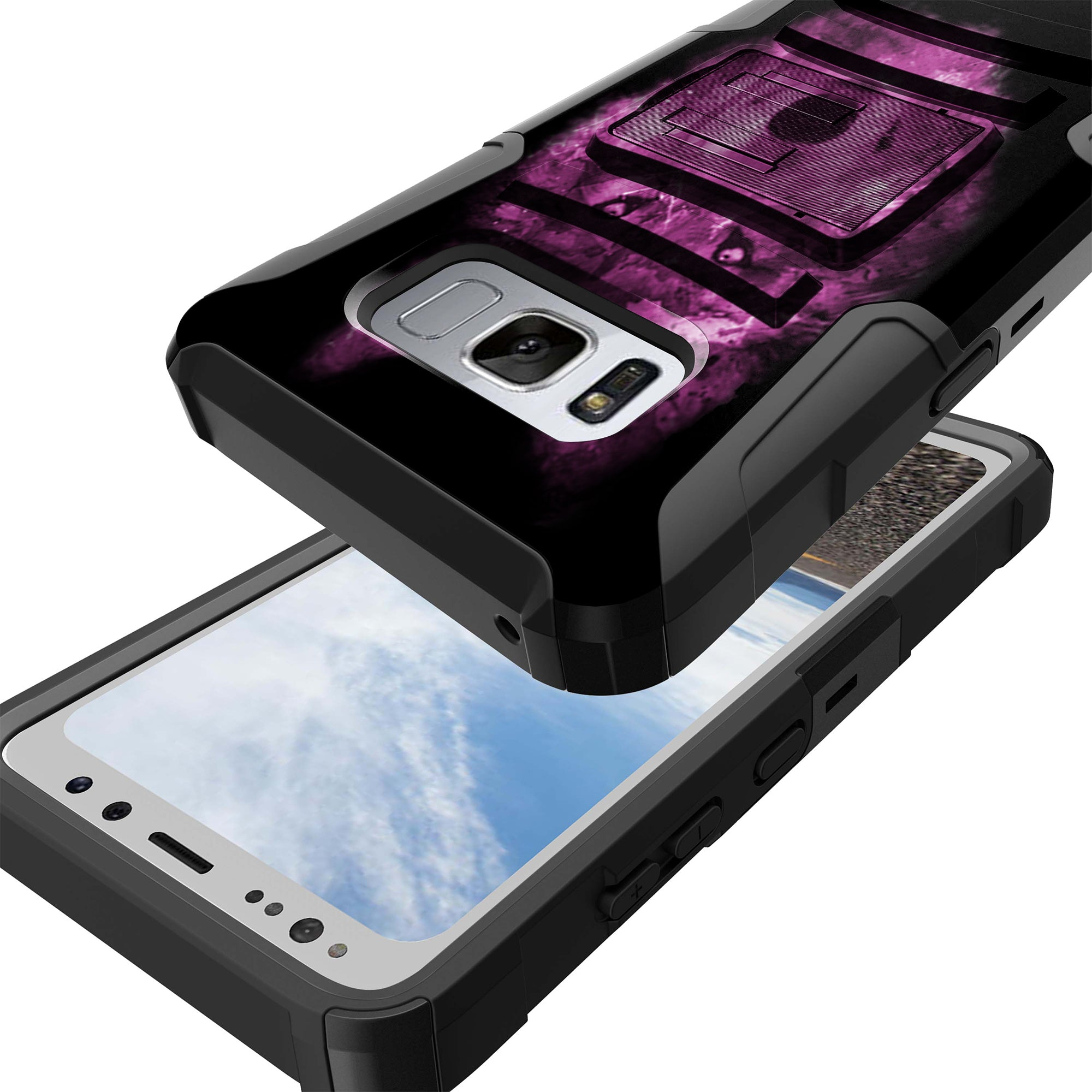 Case-for-Samsung-Galaxy-Note-5-Rugged-Dual-Layer-Holster-Combo-Stand thumbnail 43
