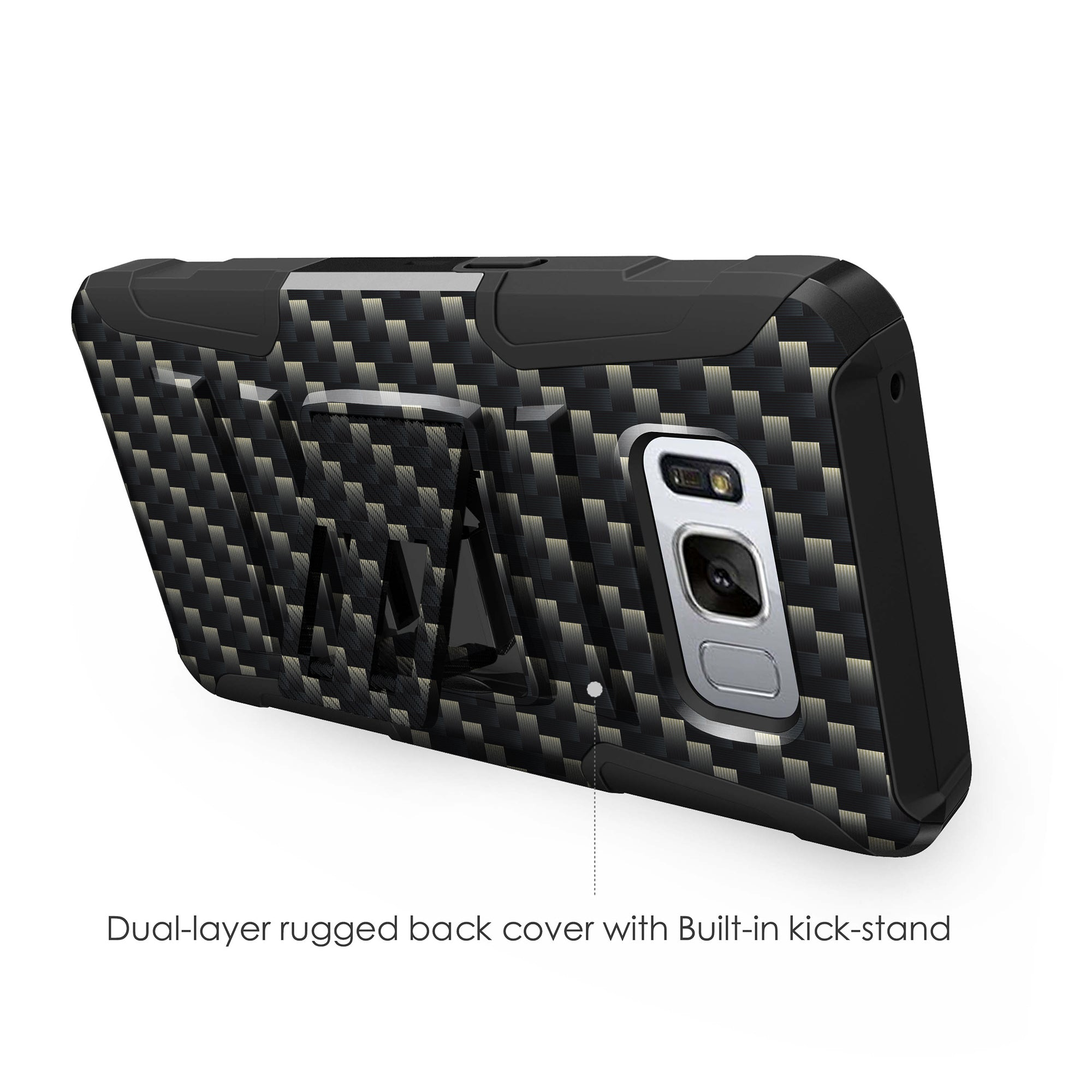 Case-for-Samsung-Galaxy-Note-5-Rugged-Dual-Layer-Holster-Combo-Stand thumbnail 8
