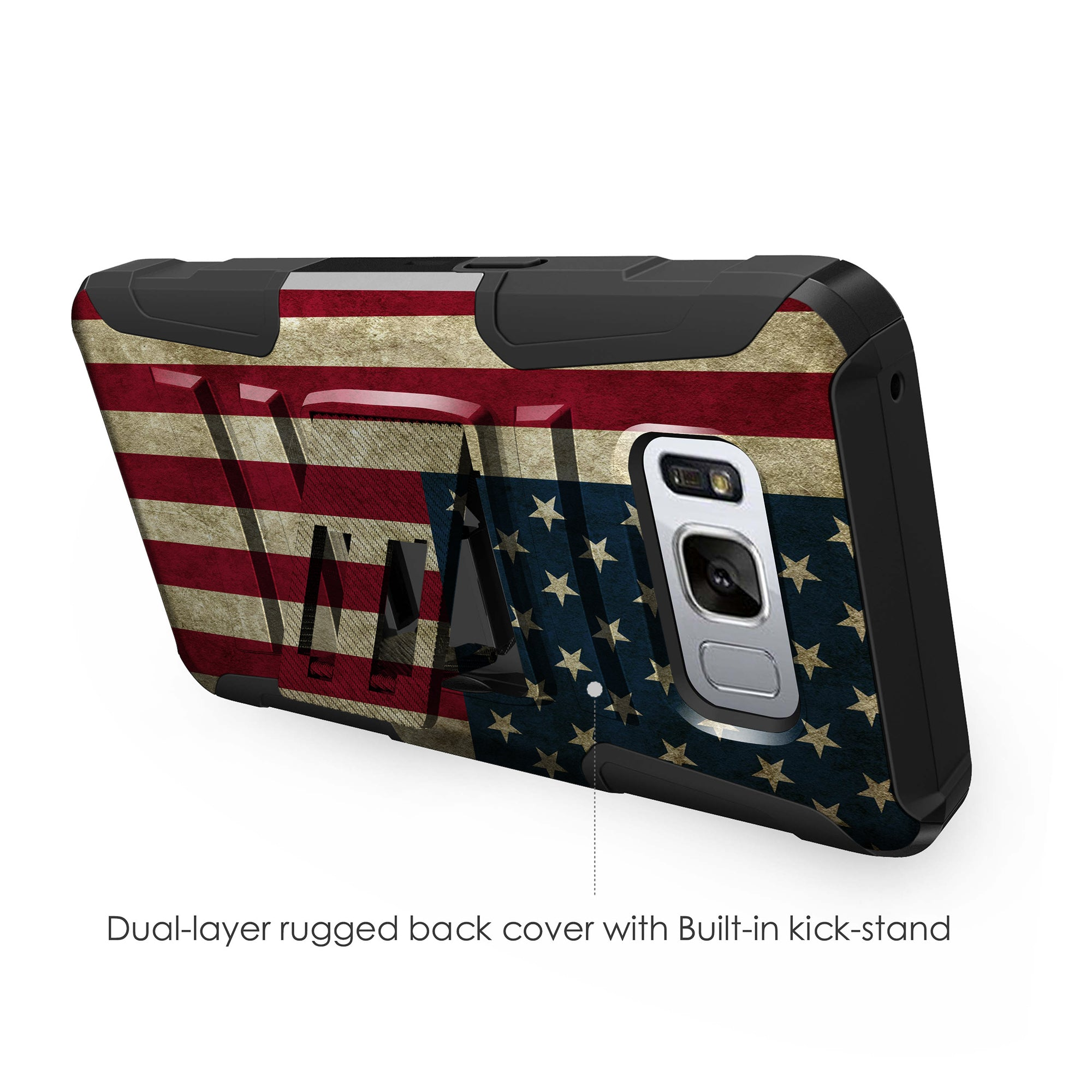 Case-for-Samsung-Galaxy-Note-5-Rugged-Dual-Layer-Holster-Combo-Stand thumbnail 17