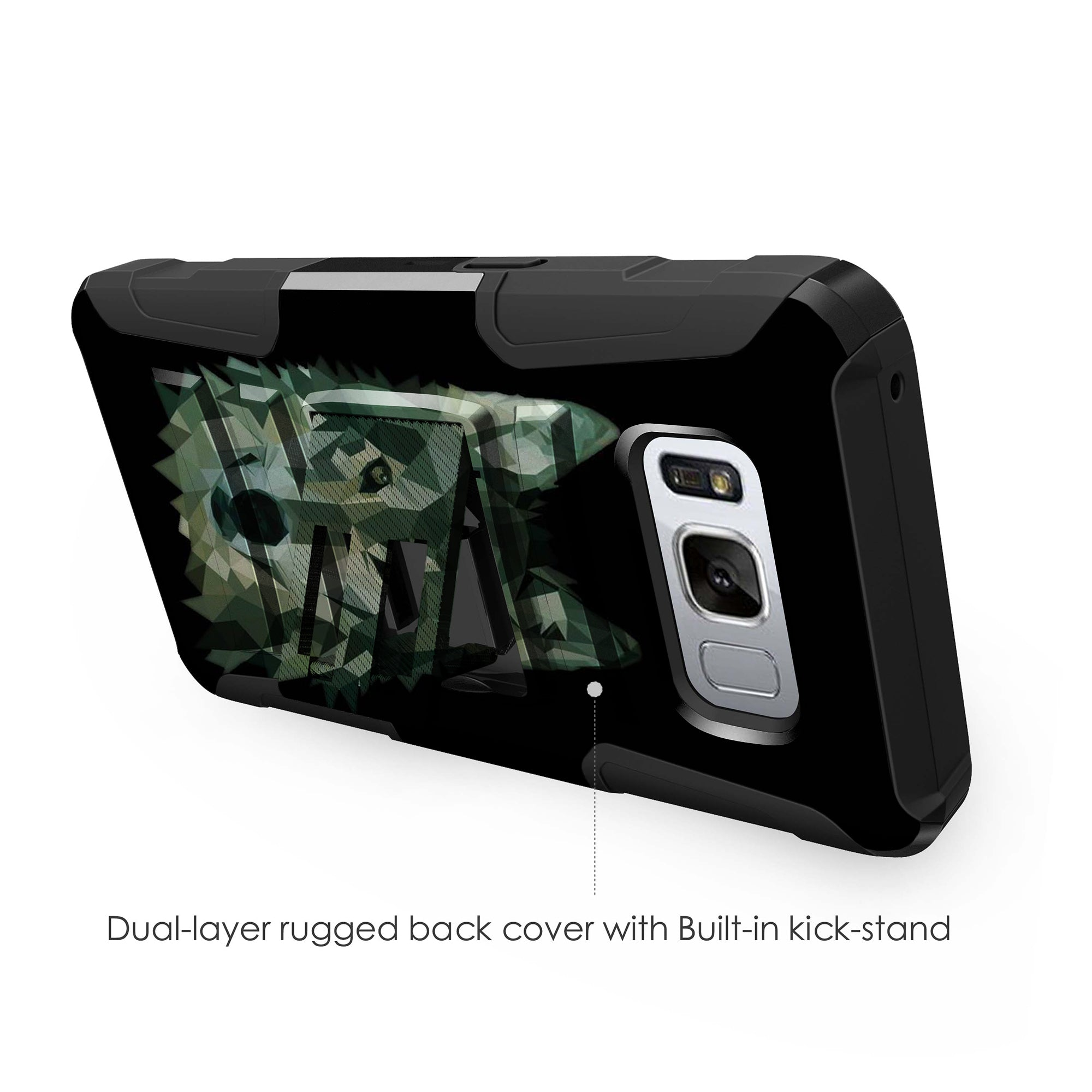 Case-for-Samsung-Galaxy-Note-5-Rugged-Dual-Layer-Holster-Combo-Stand thumbnail 32