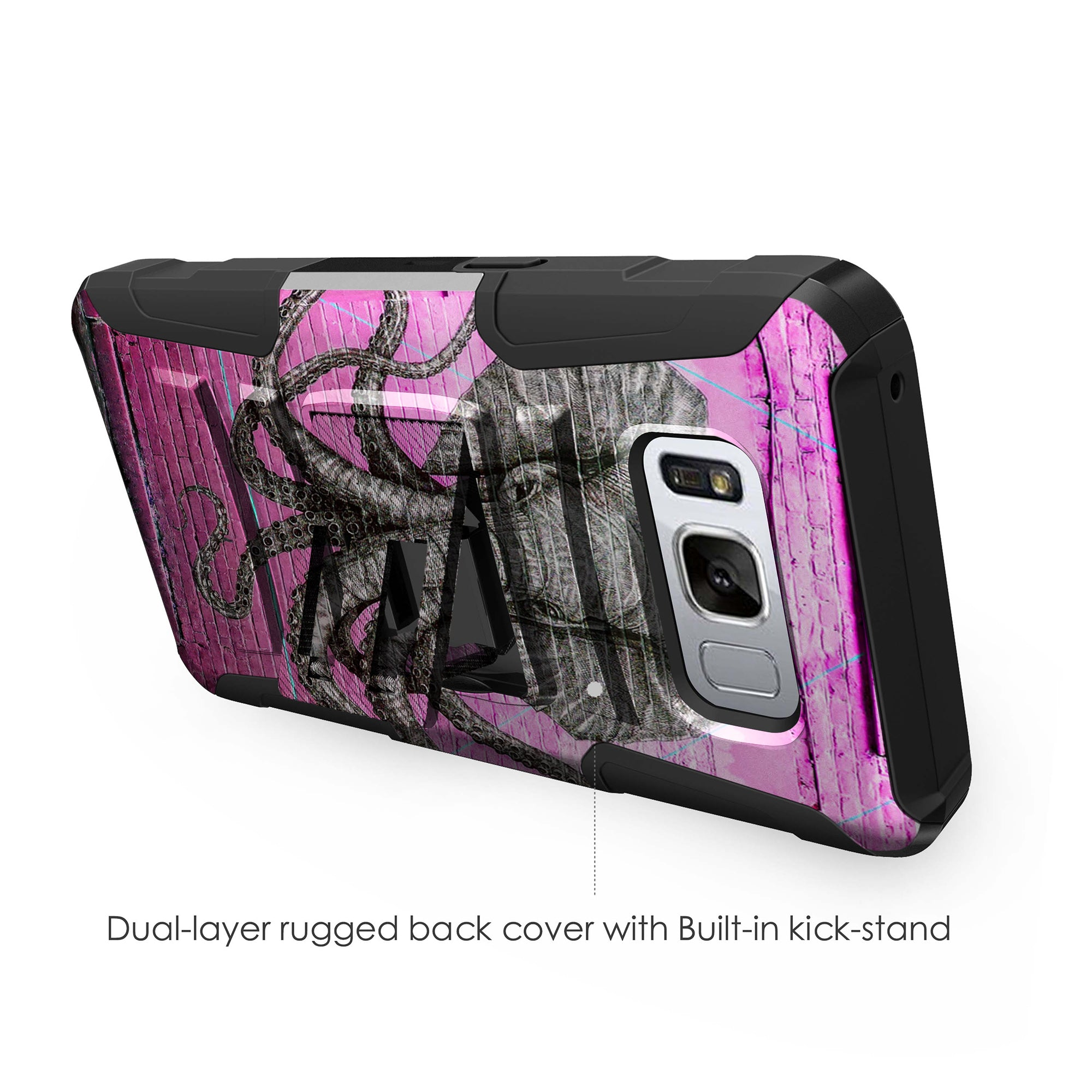 Case-for-Samsung-Galaxy-Note-5-Rugged-Dual-Layer-Holster-Combo-Stand thumbnail 35