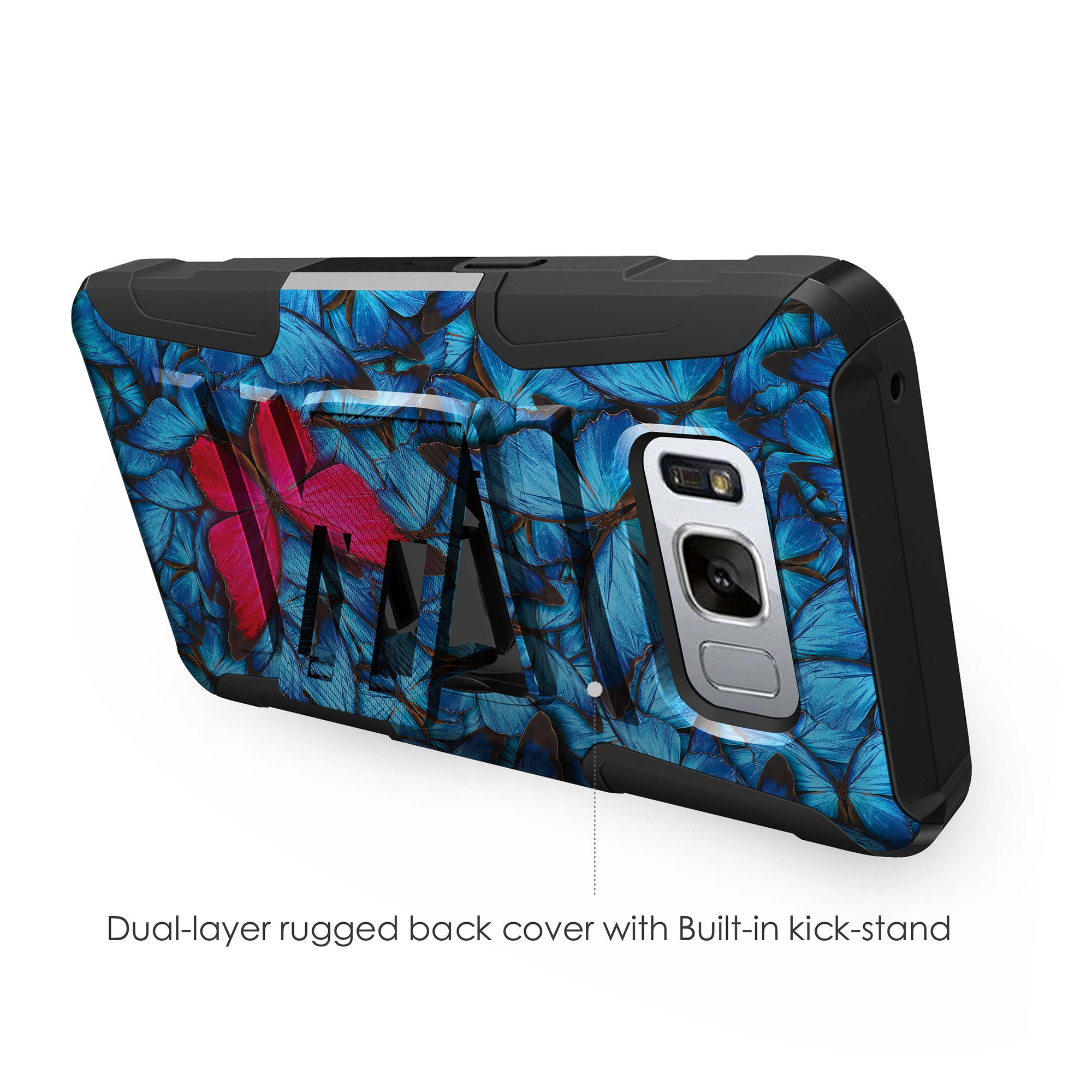 Case-for-Samsung-Galaxy-Note-5-Rugged-Dual-Layer-Holster-Combo-Stand thumbnail 38