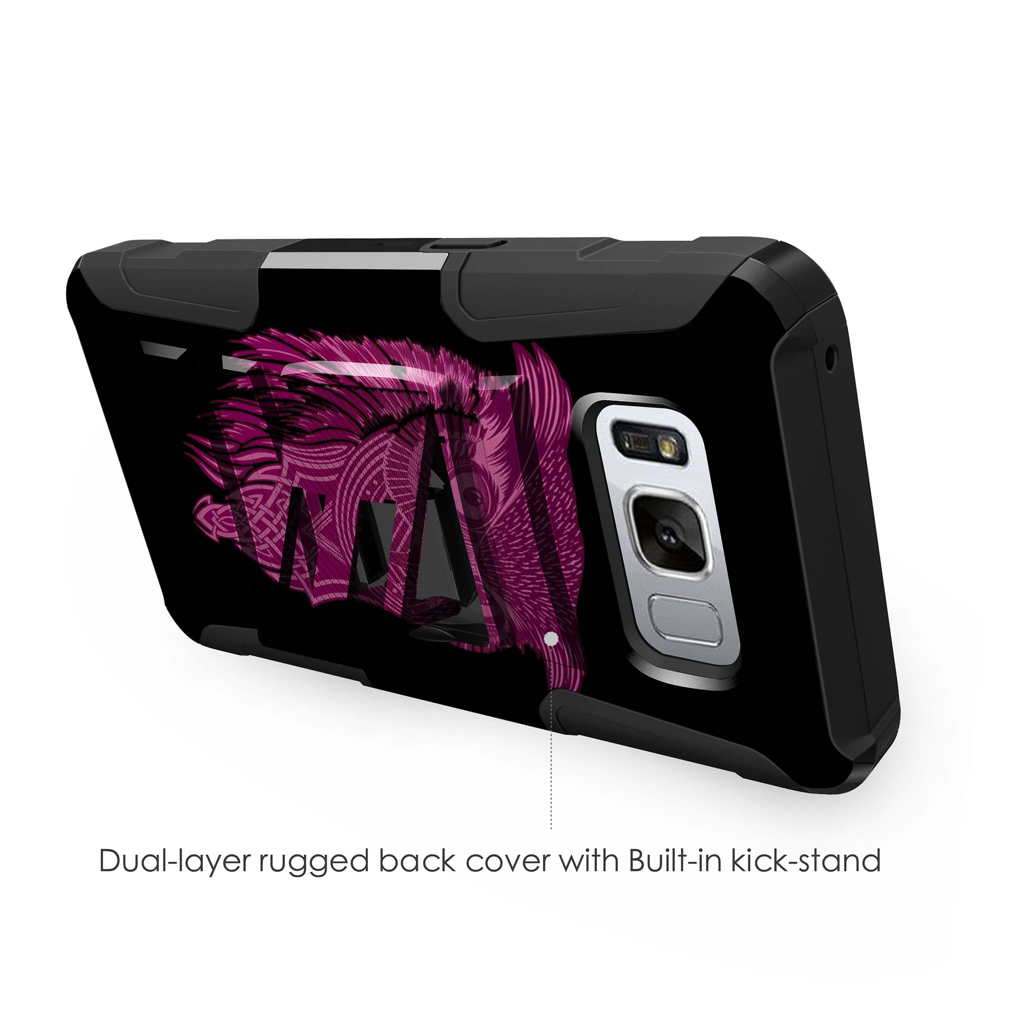Case-for-Samsung-Galaxy-Note-5-Rugged-Dual-Layer-Holster-Combo-Stand thumbnail 47