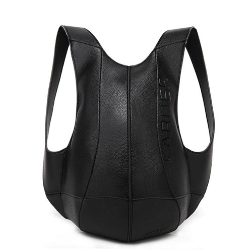 Bolso Leather Tortoise Backpack Women's / Men's Casual Shoulder Rucksack - Motorcycle
