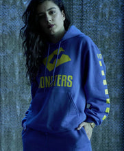Hoodie - Blue with Yellow Monsters Design