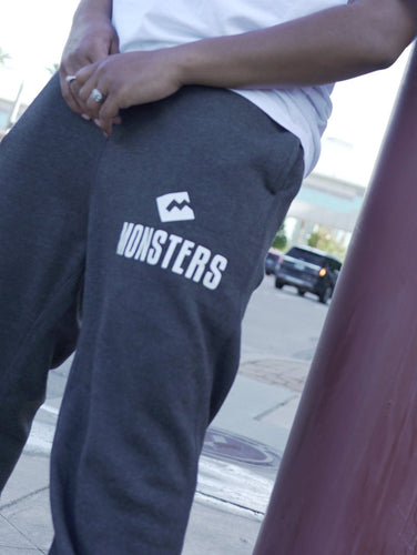 Joggers - Dark Grey w/ White Print