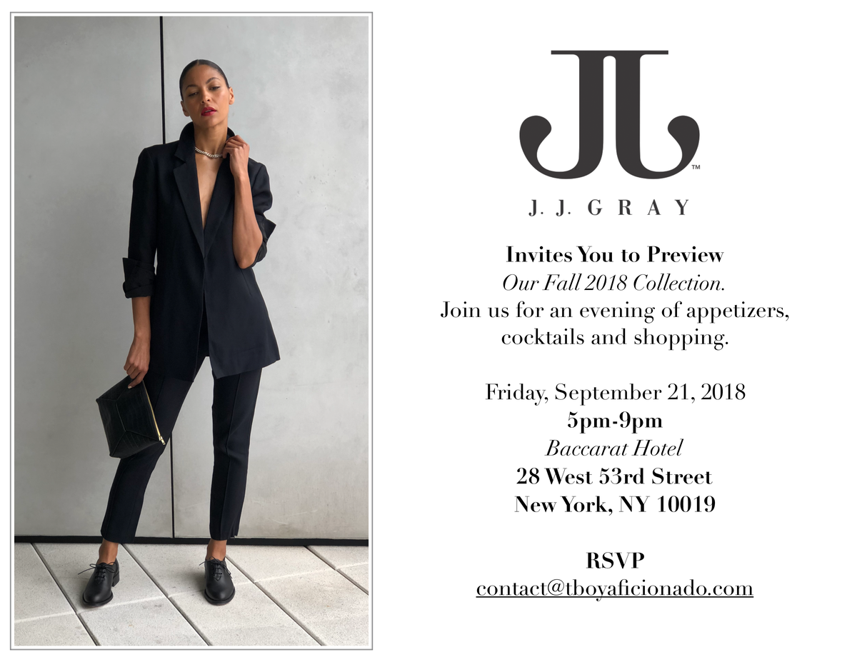 The Baccarat Hotel Trunkshow Event : JJ Grey +  Ampersand As Apostrophe | <span>September 21st, 2018</span>