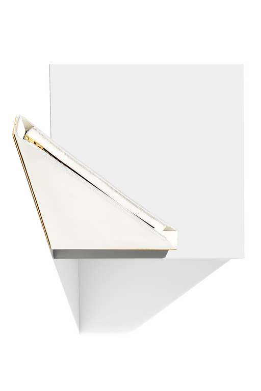 Right Angle Clutch / Star White + Gold