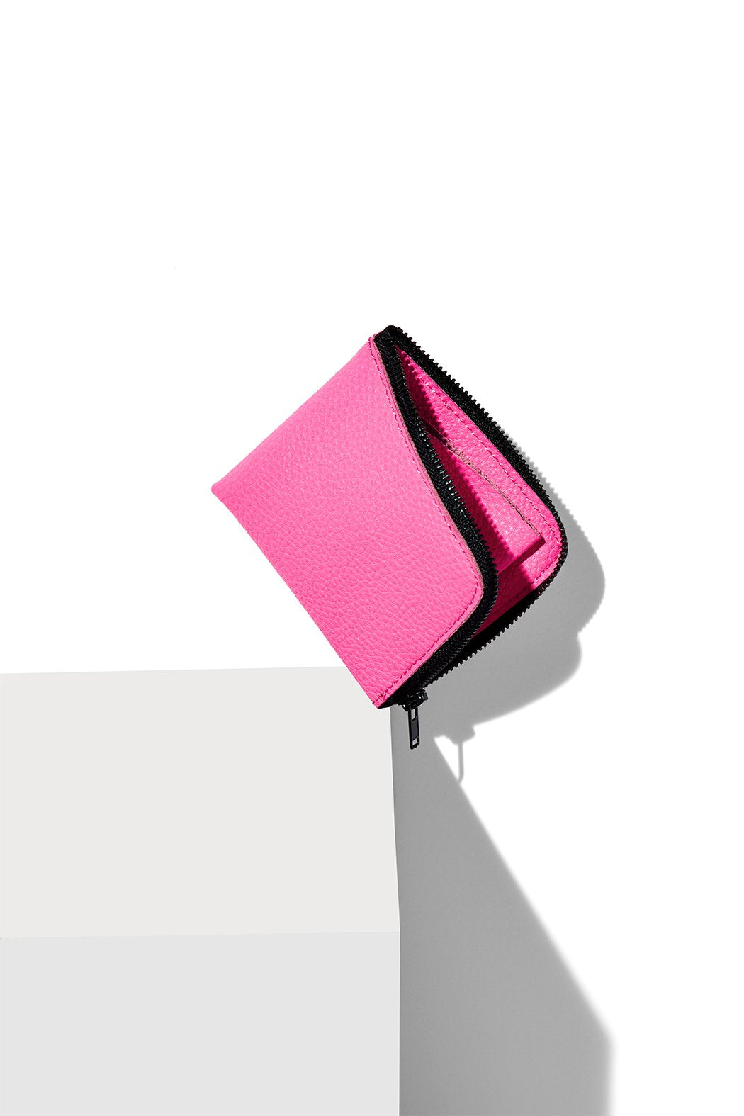 Half-Zip Wallet / Fuschia