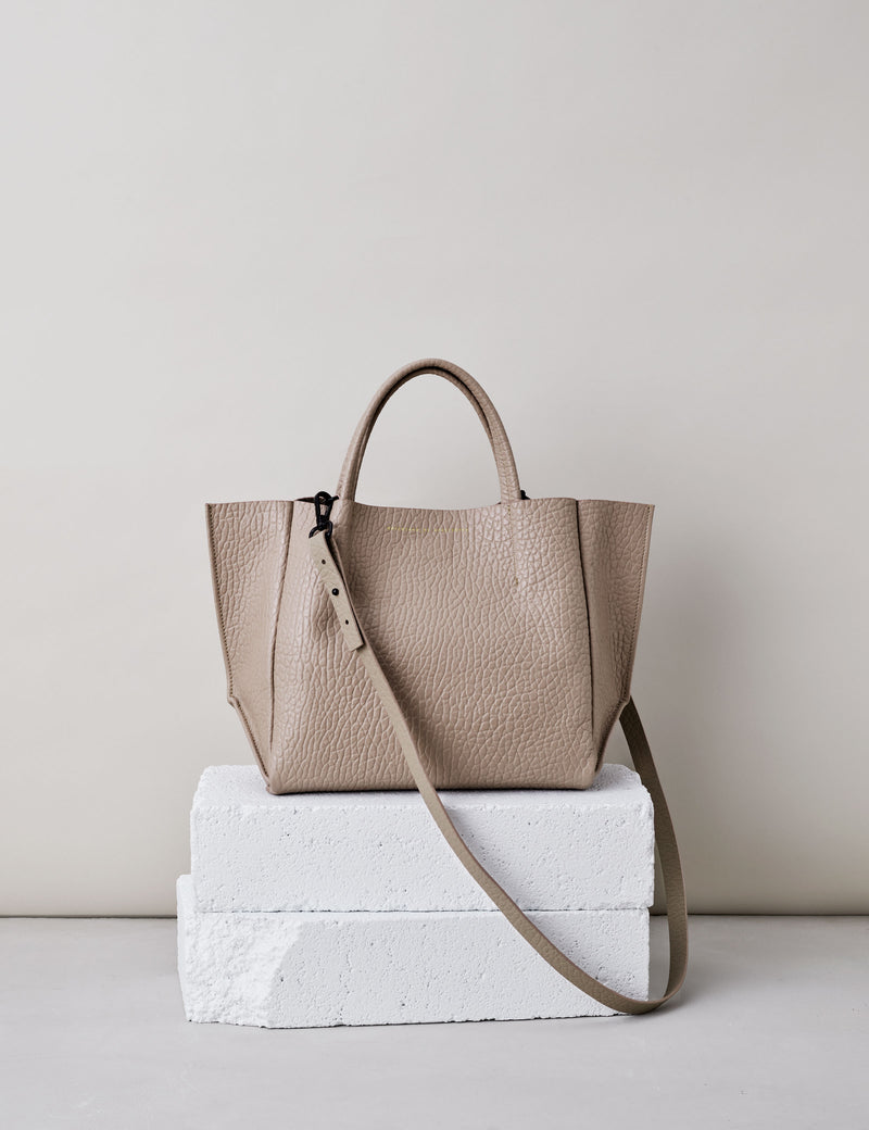 Half Tote / Light Taupe Buffalo