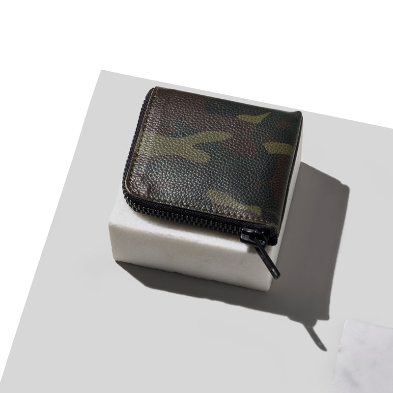Half-Zip Wallet / GREEN CAMO