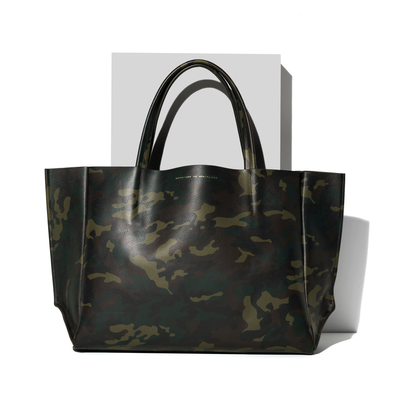 Sideways Tote / GREEN CAMO