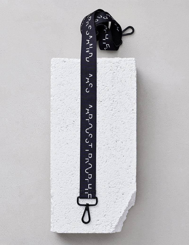 Nylon Strap / Black Logo Glitch