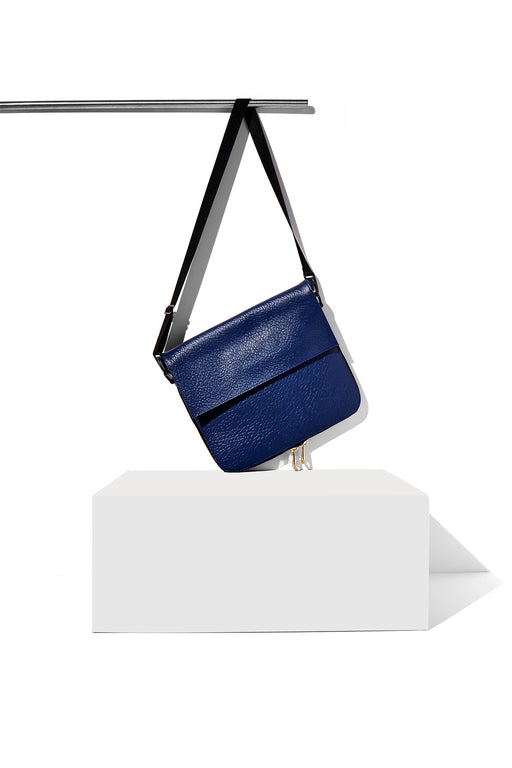 AMPERSAND AS APOSTROPHE fashionable blue summer leather clutch women's cross body cobalt buffalo parcel lightweight over the shoulder tall tote carry all everyday laptop bag