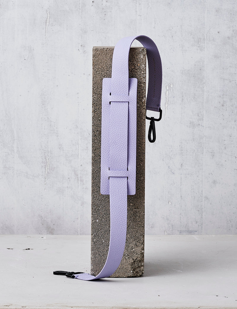 Leather Shoulder Strap / Lilac