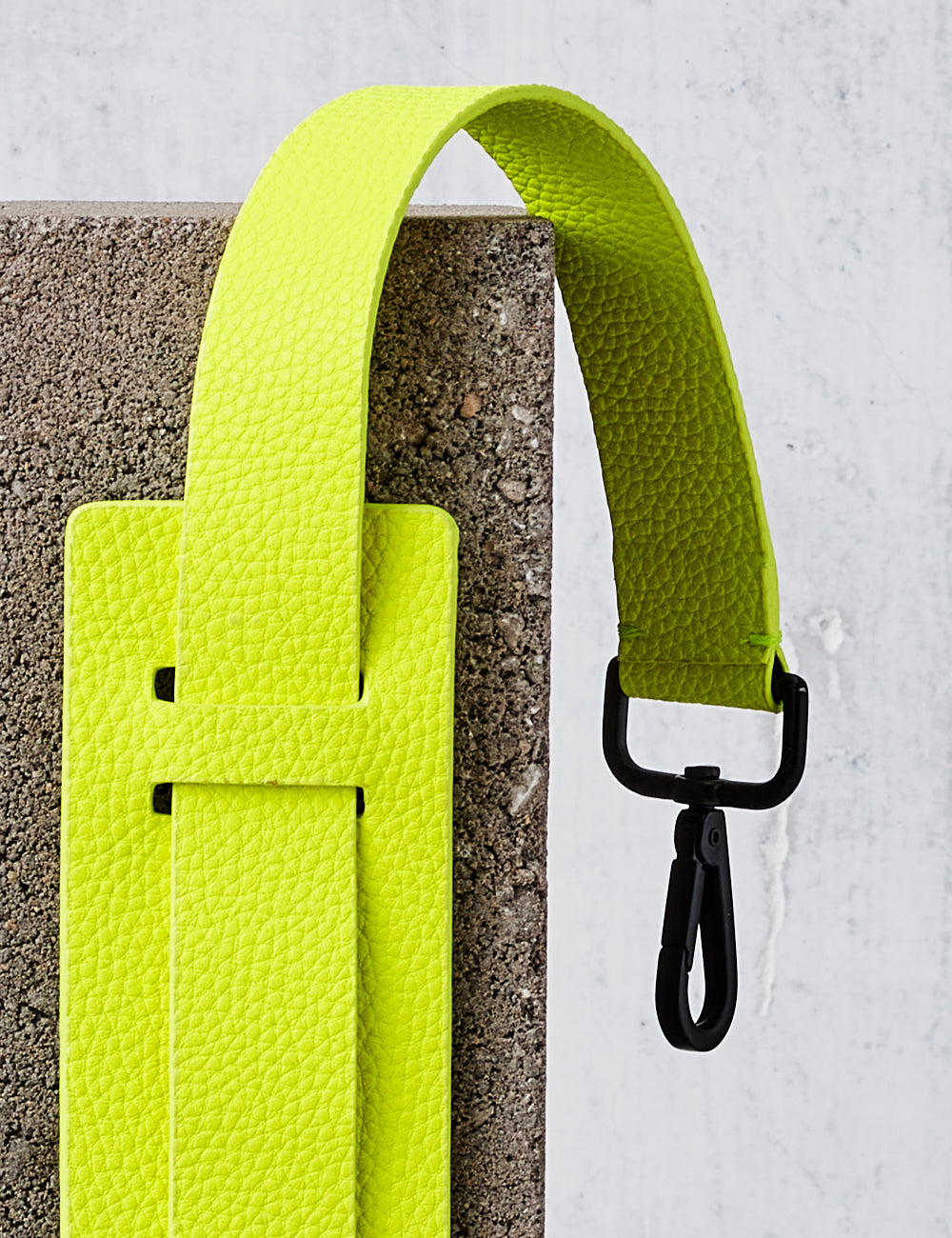 Leather Shoulder Strap / Neon Yellow