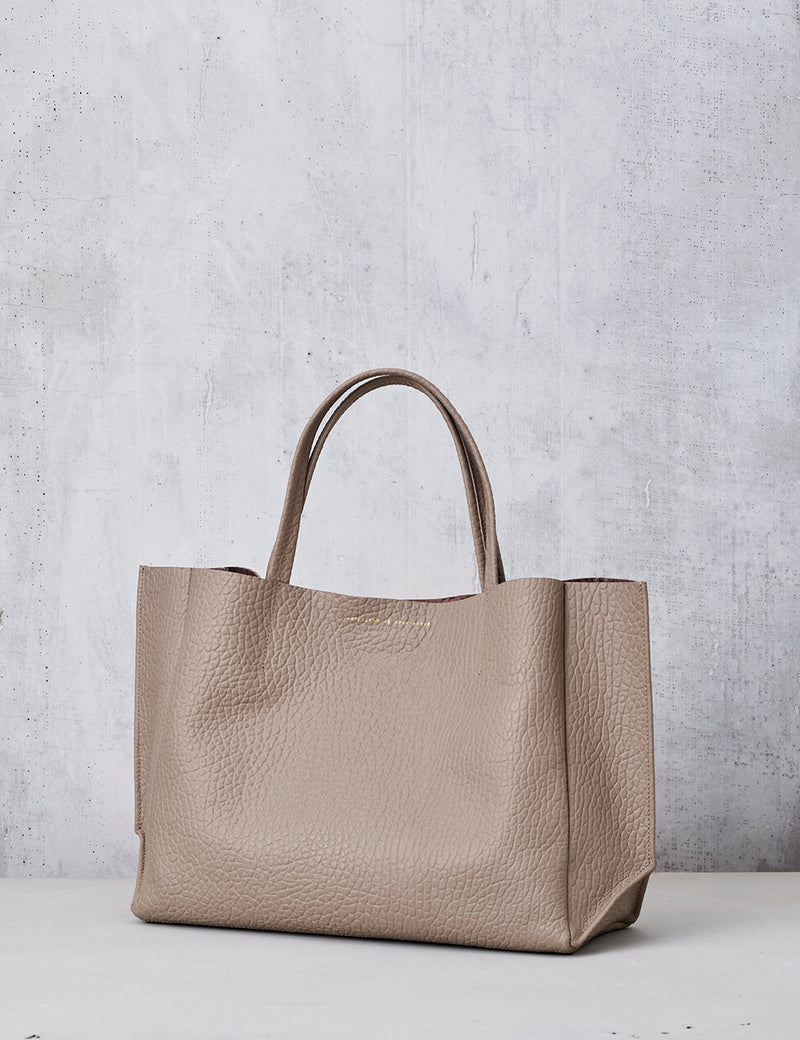 Sideways Tote / Light Taupe Buffalo