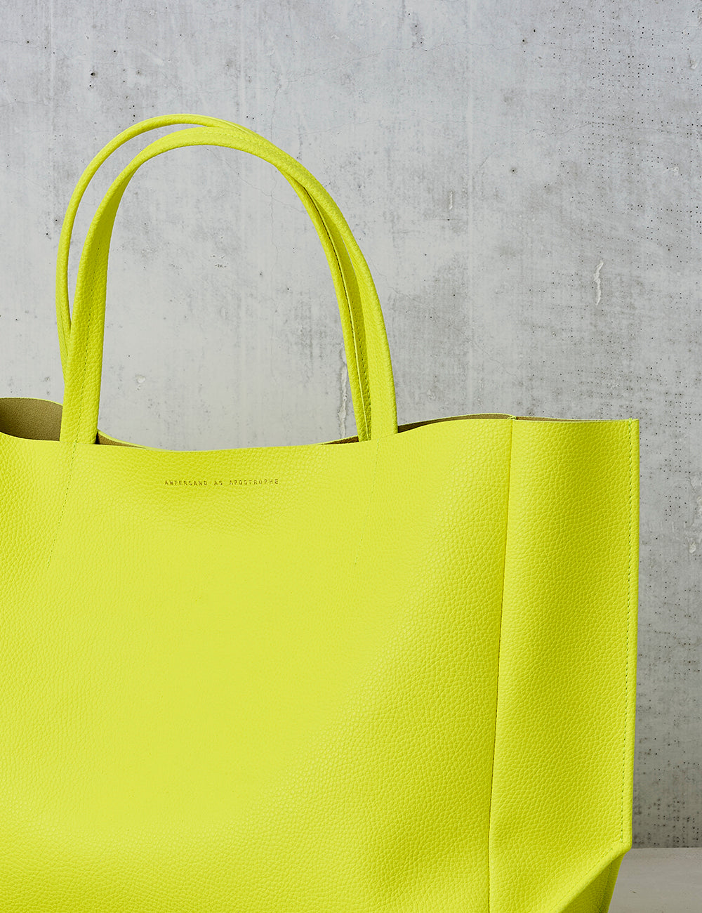 Sideways Tote / Neon Yellow