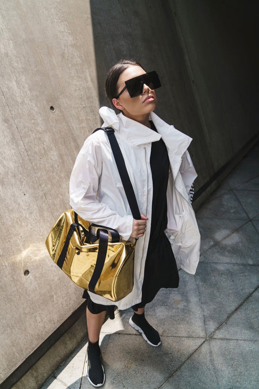 The O.G. Duffle / Gold Mirror / Black Nylon Strapping
