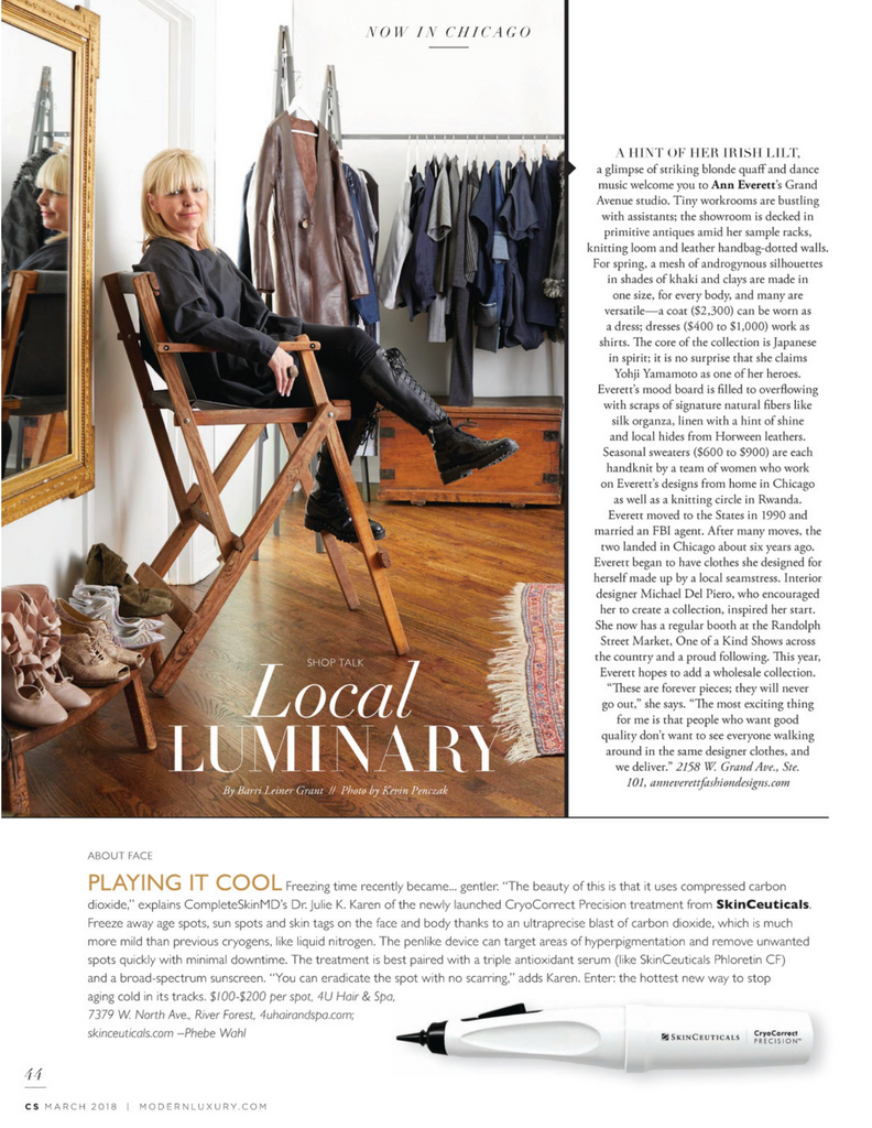 Ann Everett | CS Modern Luxury, March 2018