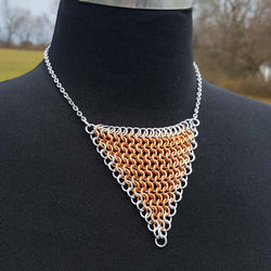 Copper with Bright Aluminum Edge European 4-1 Triangle Necklace