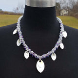 Reversible Beaded Shaggy Necklace with Scale Drops