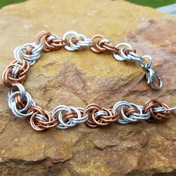 Alternating Copper and Bright Aluminum Ocean Waves