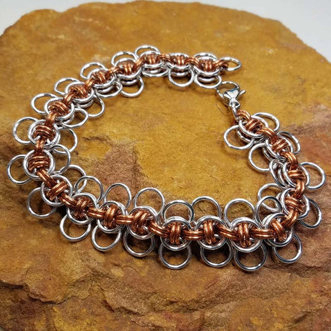 Celtic Wings in Copper and Bright Aluminum