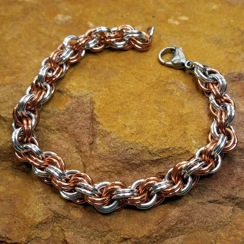 Double Spiral in Copper and Bright Aluminum