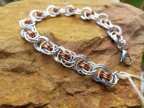 Ocean Waves in Copper and Bright Aluminum