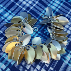 Small Shaggy Scales Bracelet - Silver & Gold