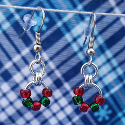 Red and Green Simple Beaded
