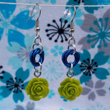Green flower with Royal blue mobius