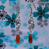 Orange Glass with Double Spiral