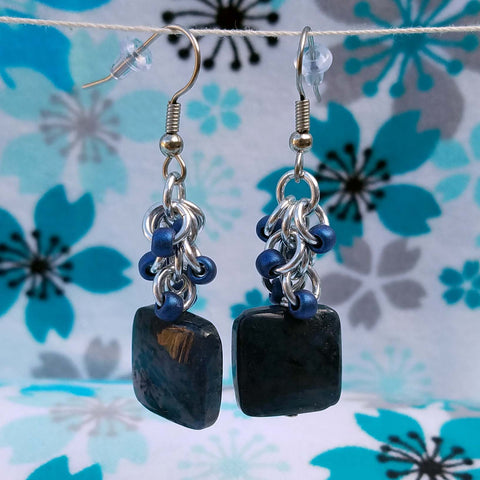 Dumortierite with Beaded Shaggy in Blue Metallic
