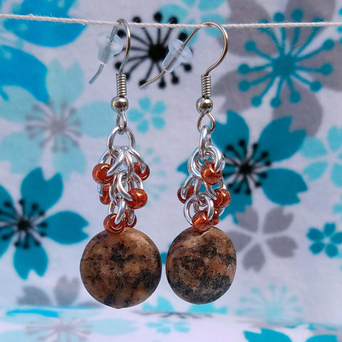 Brown Jasper beaded shaggy