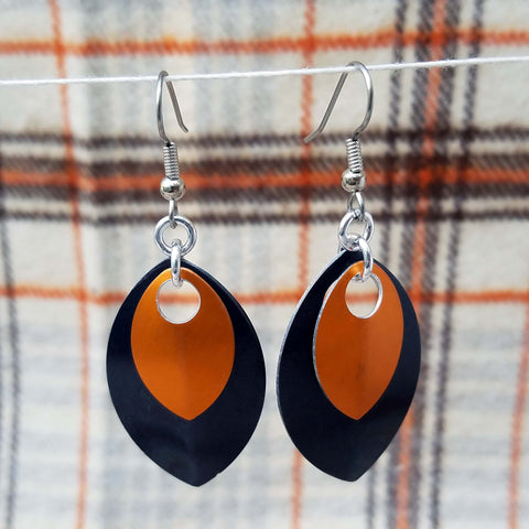 Customize your colors! Two-tone Scale Earrings - Large/Small