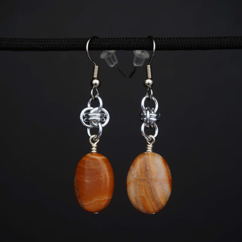 Orange stone oval with barrel
