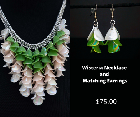 Wisteria Necklace with Matching Earrings
